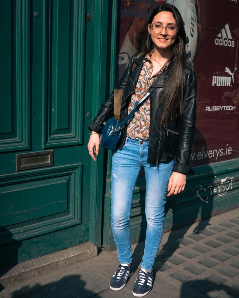 Girl in jeans in Dublin city