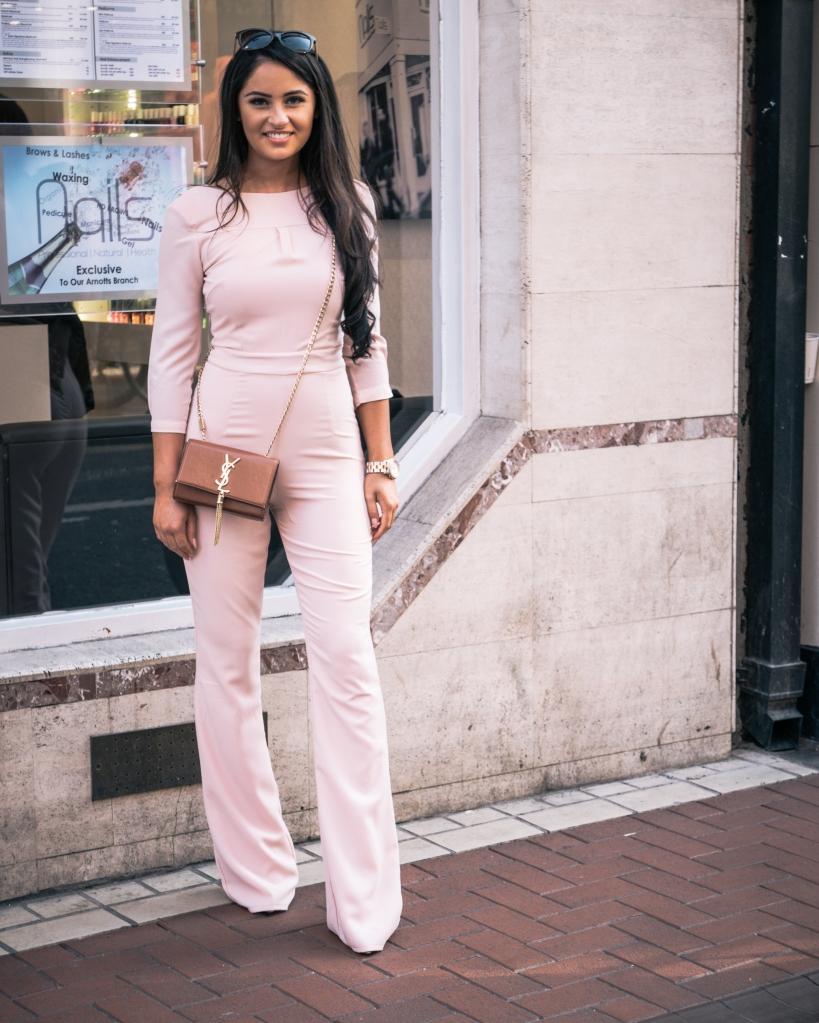 Girl in pink in Dublin
