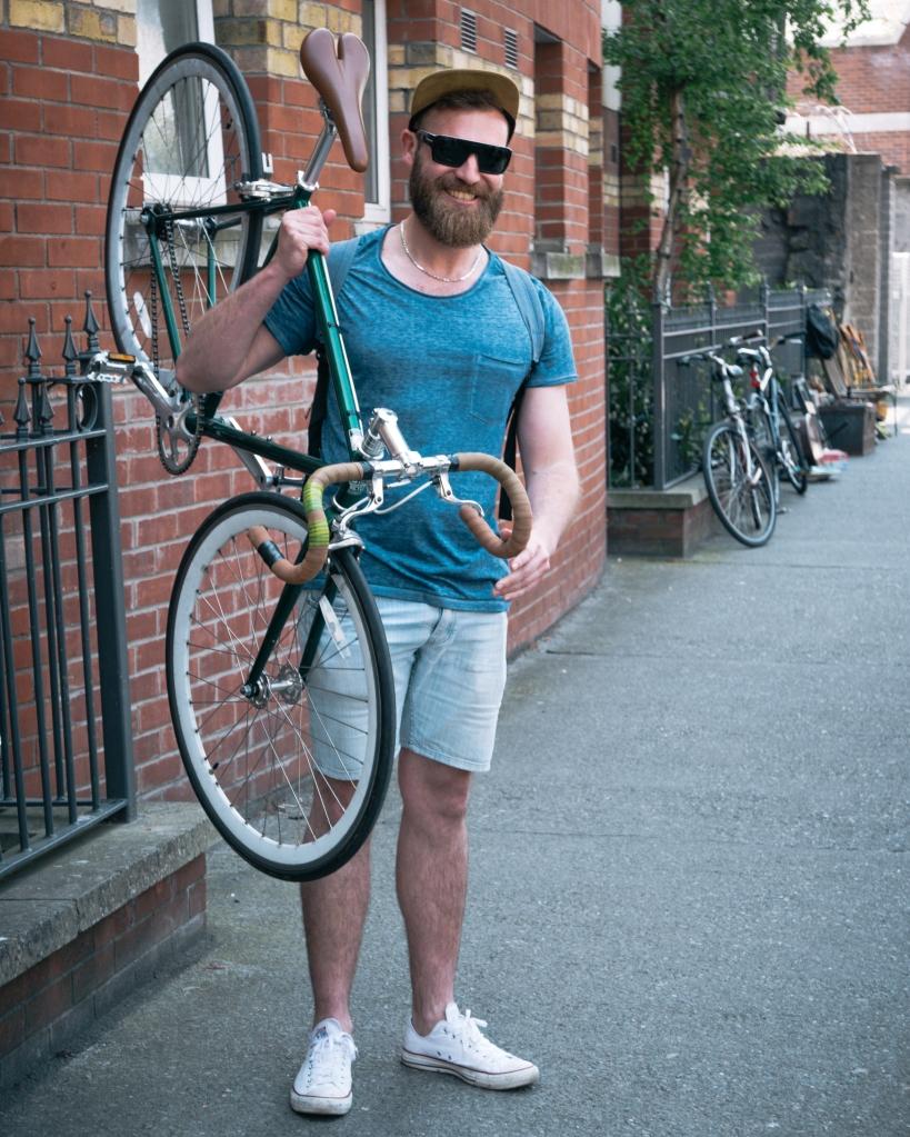Man in Dublin with bike
