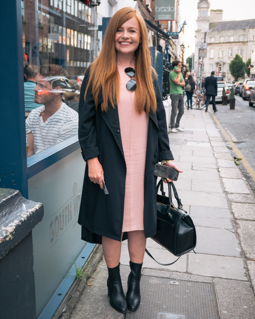 Trendy Irish woman on Dublin street
