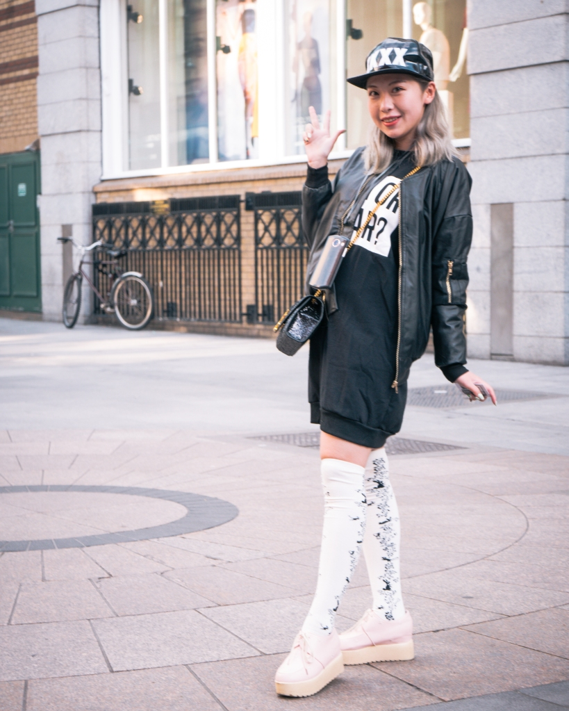 Japanese fashion girl with socks